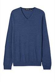 Traceable Merino V-Neck Knit
