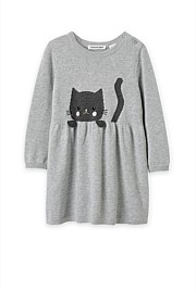 Cat Knit Dress