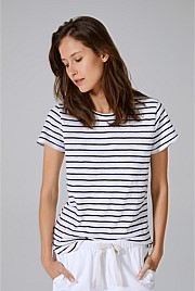 Cotton Slub Stripe T-Shirt