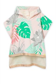 Tropical Floral Poncho