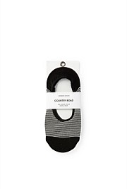 Striped No Show Socks Pack of 3