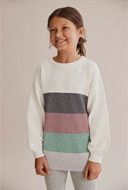 Metallic Stripe Knit