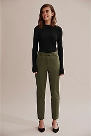 Crop Cotton Sateen Pant