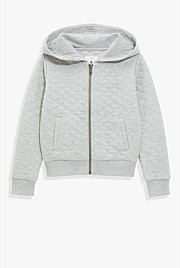 Quilted Hooded Sweat