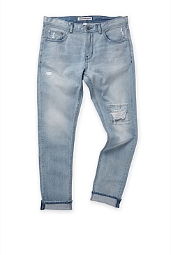 Slim Tapered Light Wash Jean