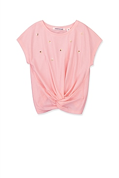 Sequin Knot T-Shirt