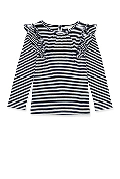 Stripe Ruffle T-Shirt