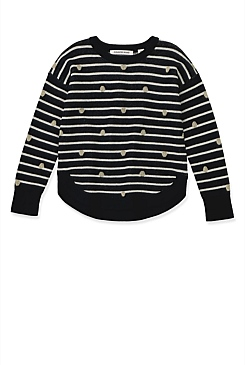 Stripe Spot Knit