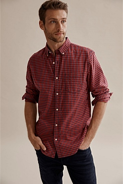 Regular Oxford Two Colour Gingham Shirt