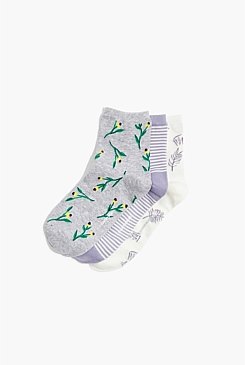 Botanical Boxed Socks Pack Of 3