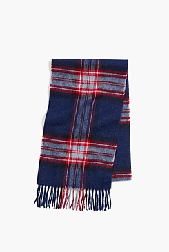 Red Check Moon Scarf