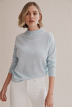 Mock Neck Basic Knit