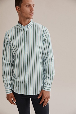 Regular Vertical Stripe Shirt