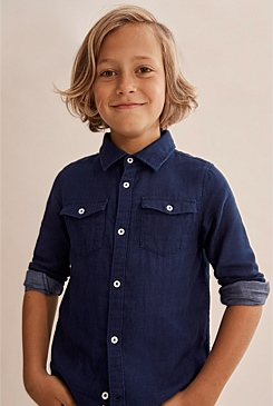 Indigo Double Faced Shirt