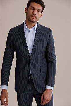 Slim Pinstripe Travel Jacket