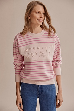 Modern Logo Stripe Sweat