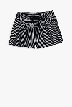 Metallic Stripe Skort