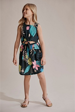 Tropical Tie Up Dress