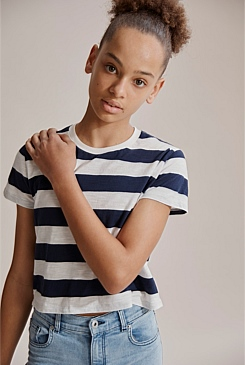 Stripe Slub T-Shirt