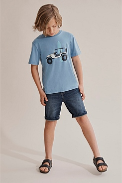 Denim Five Pocket Short