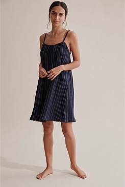 Stripe Nightie With Trim