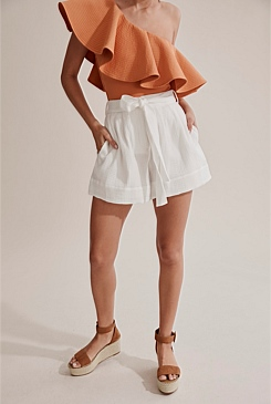 Textured Cotton Resort Short
