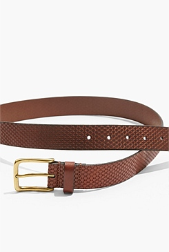 Leather Basketweave Belt