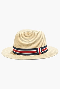 Stripe Panama Hat