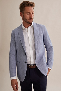 Regular Stripe Chambray Blazer