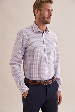 Regular Contrast Check Travel Shirt