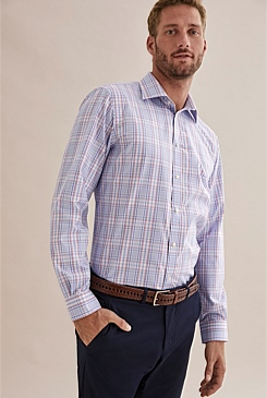 Regular Grid Check Travel Shirt
