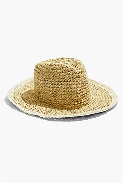 Stripe Straw Hat