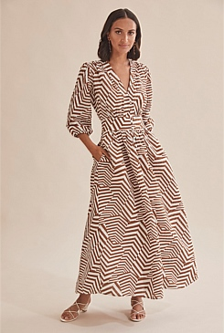 Print Puff Sleeve Dress