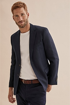 Regular Textured Linen Blazer