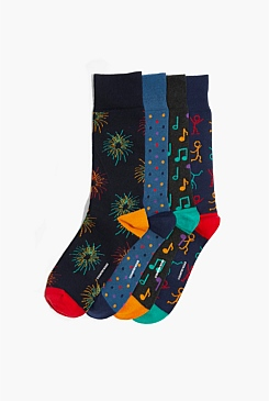 Celebration Sock Boxed Socks Pack of 4