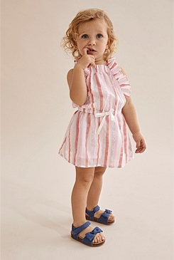 Crinkle Stripe Dress