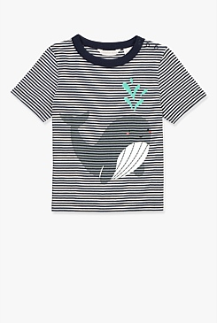Whale Stripe T-Shirt