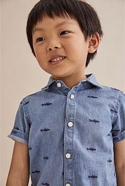 Shark Embroidered Shirt