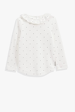 Pin Dot Frill T-Shirt