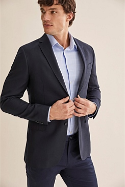 Regular Textured Travel Blazer