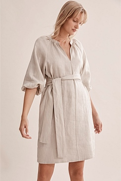 Metallic Linen Dress