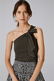 One Shoulder Knot Top