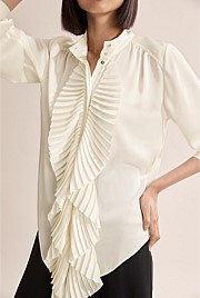 Pleat Bib Shirt
