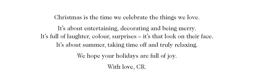 Christmas is the time we celebrate