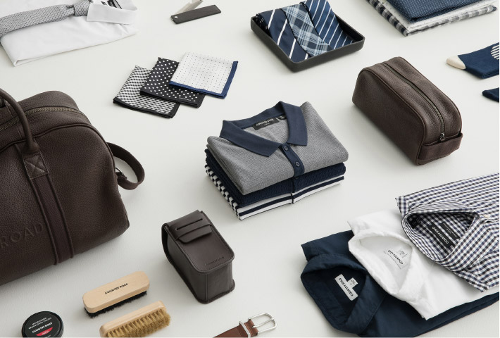 For the gentleman: leather grooming accessories and elevated polos. - Shop The Gift Edit