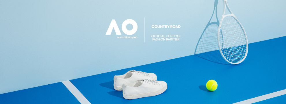 Country Road - Official Lifestyle Fashion Partner of the Australian Open 2018.