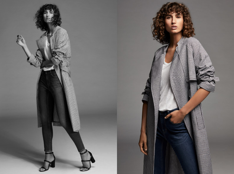 The Trench - Try a new approach: wear a soft trench with a white tee and denim. - Shop Now