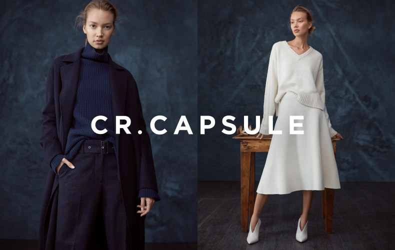 CR.CAPSULE - Introducing a limited edition collection of never to be repeated styles. Unique and directional, the range emphasises design, fabrications and silhouettes.