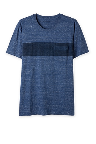 Chest Block Stripe T-Shirt