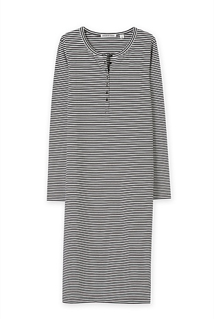 Mini Stripe Henley Dress